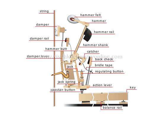 Arts Architecture Music Keyboard Instruments Upright