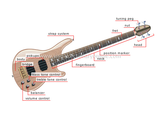 bass guitar - Visual Dictionary Online