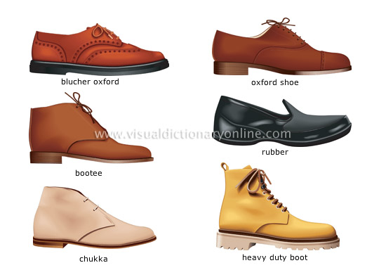 men's shoes [2] - Visual Dictionary Online