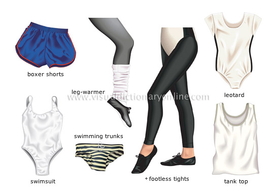 exercise wear - Visual Dictionary Online