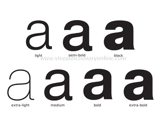 communications communications typography weight image visual dictionary online