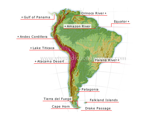 South America - Visual Dictionary Online