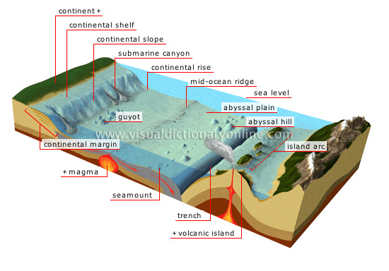 earth geology ocean floor image visual dictionary