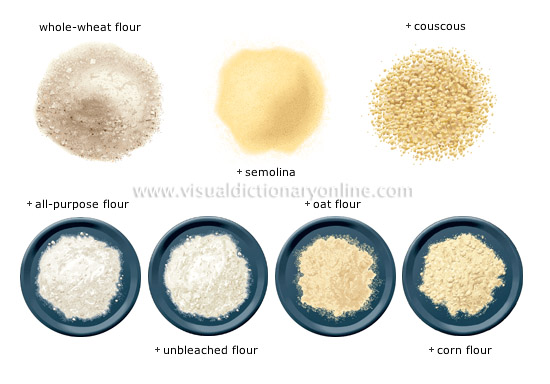 flour and semolina