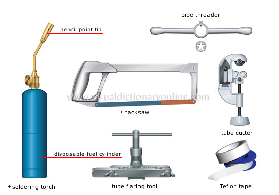 house :: do-it-yourself :: plumbing tools [1] image - visual ...