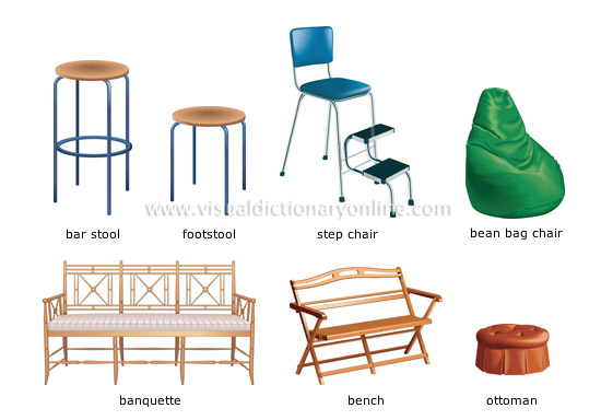 House house furniture seats image visual for Visual merriam webster