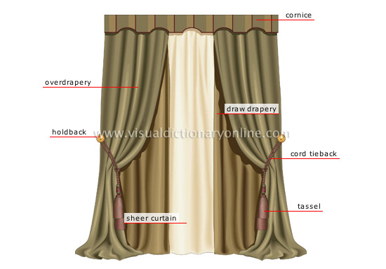 HOUSE FURNITURE WINDOW ACCESSORIES CURTAIN Image