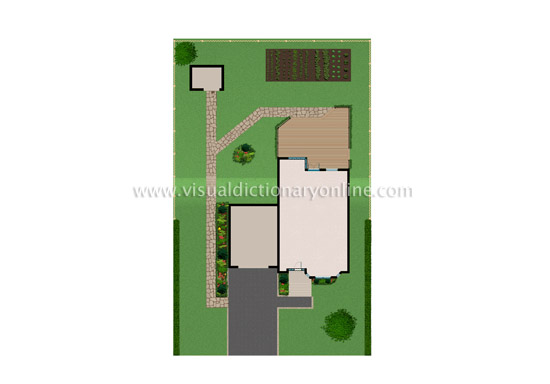 House location exterior of a house site plan Home site plan
