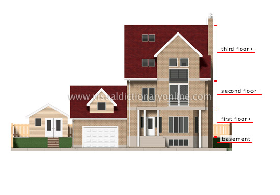 House plan 5443 besides elevation details main level 2nd level photo