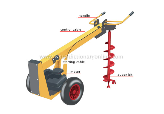 motorized earth auger