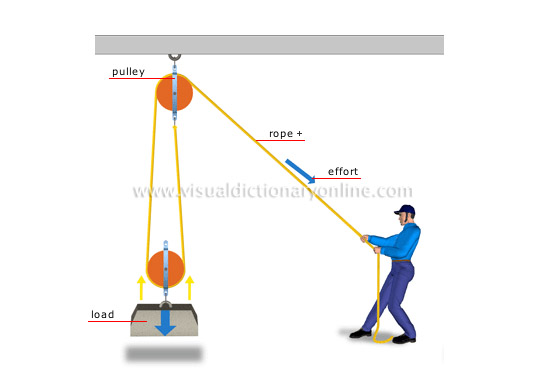 SCIENCE :: PHYSICS: MECHANICS :: DOUBLE PULLEY SYSTEM image - Visual ...