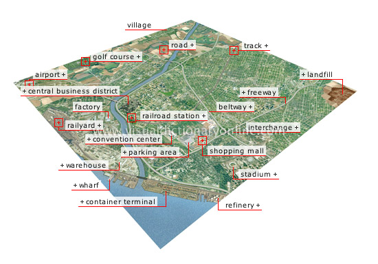 metropolitan area [1] - Visual Dictionary Online
