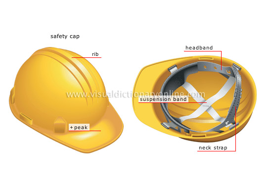 SOCIETY :: SAFETY :: HEAD PROTECTION image - Visual Dictionary Online