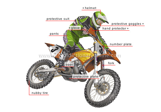 motocross and supercross motorcycle