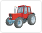 tractor: front view
