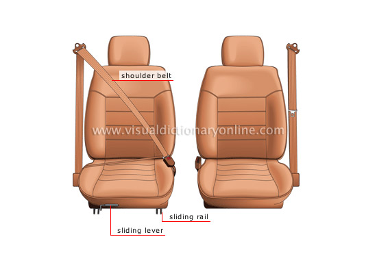 bucket seat: front view